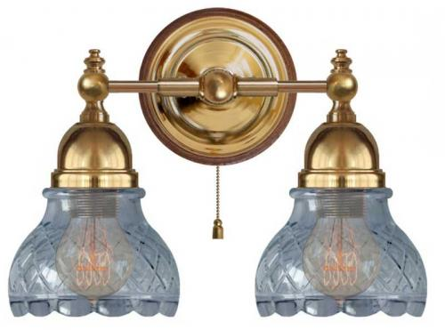 Wall Lamp - Bergman with clear cut glass