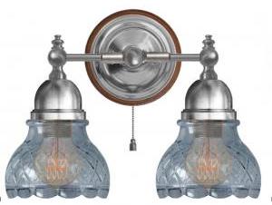 Wall Lamp - Bergman nickel, clear cut glass