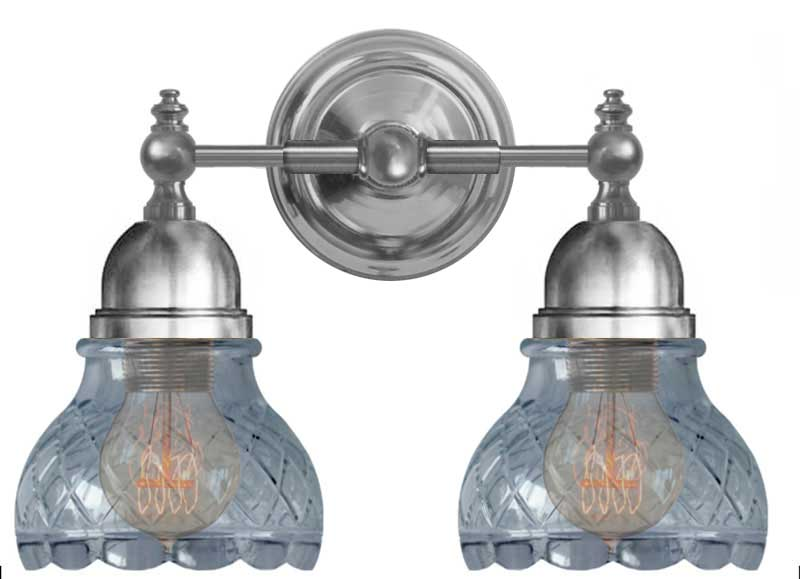 Baderomslampe - Bergman forniklet, klarglass