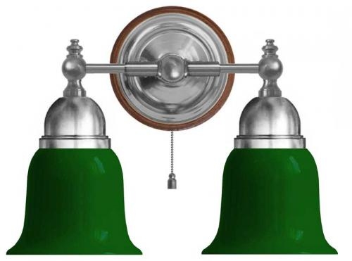 Wall Lamp - Bergman nickel, green bell