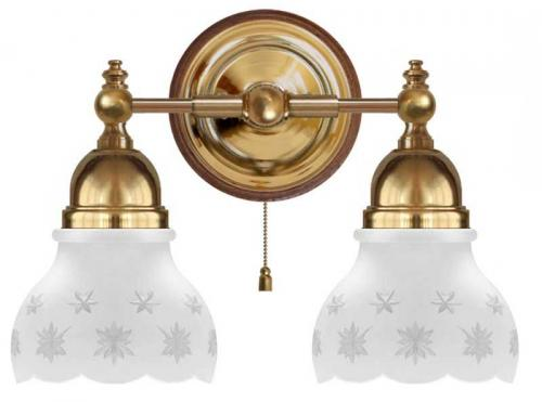 Wall Lamp - Bergman brass, matte glass