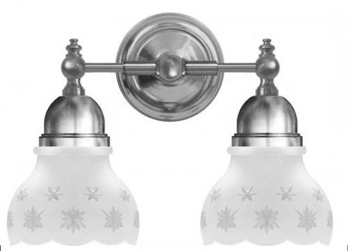 Bathroom Wall Lamp - Bergman nickel, matte glass