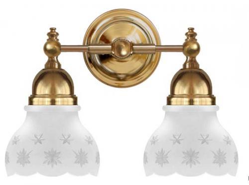 Bathroom Wall Lamp - Bergman brass, matte glass