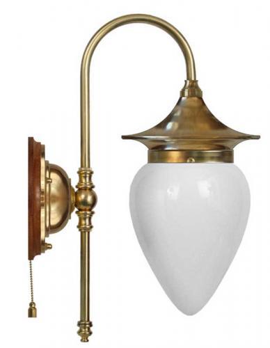 Wall lamp - Fryxell brass drop opal white