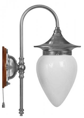 Wall lamp - Fryxell nickel drop opal white