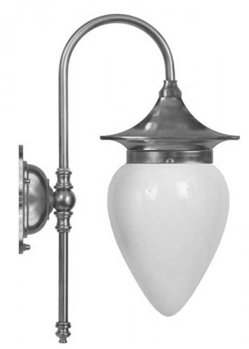 Bathroom Lamp - Fryxell nickel opal white drop