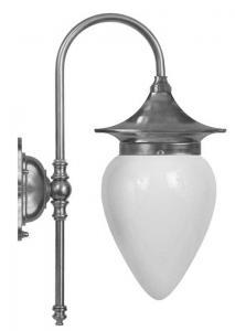 Vegglampe - Fryxell nickel, opalvhitt - arvestykke - gammeldags dekor - klassisk stil - retro