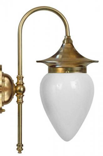 Bathroom Lamp - Fryxell brass opal white drop