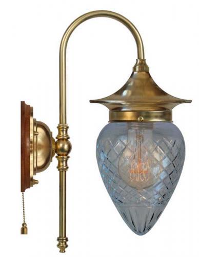 Wall lamp - Fryxell brass clear drop