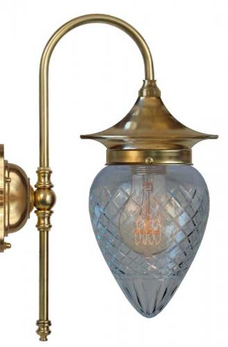 Bathroom Lamp - Fryxell brass clear drop