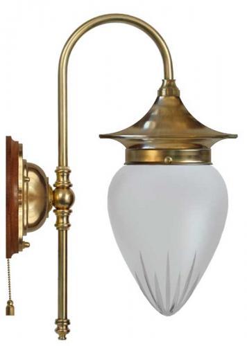 Wall lamp - Fryxell brass cut matte glass