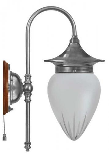 Wall lamp - Fryxell nickel cut matte glass
