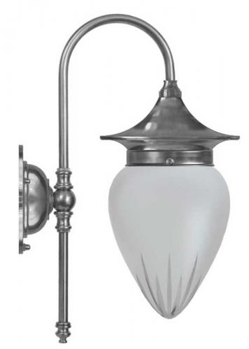 Bathroom Lamp - Fryxell nickel cut matte glass