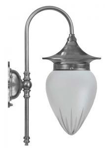 Vägglampa - Fryxell förnicklad slipat mattglas