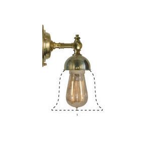 Badrumslampa - Adelborg mässing opalvit klocka - gammaldags stil - klassisk stil