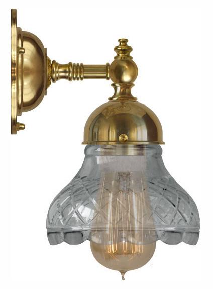 Bathroom Wall Lamp - Adelborg brass, clear glass