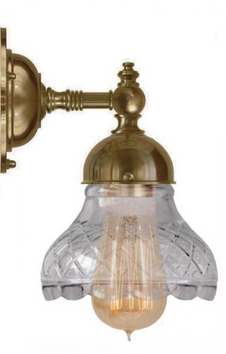 Bathroom Wall Lamp - Adelborg brass, clear glass