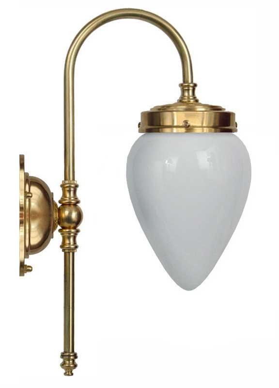 Bathroom Lamp - Blomberg 80 opal white drop