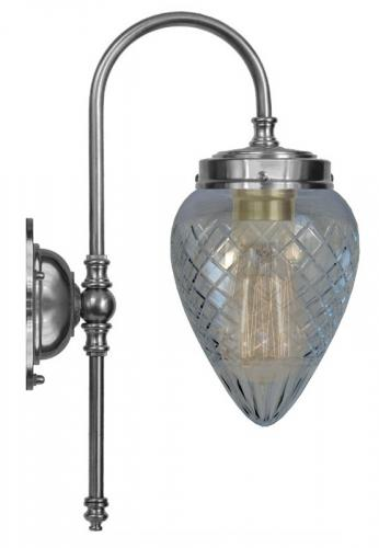 Bathroom Lamp - Blomberg 80 nickel clear glass drop
