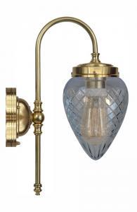 Baderomslampe - Blomberg 80 antiklakkert, klarglass dråpe