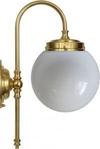 Baderomslampe - Blomberg 80 opalvhitt globelampe - arvestykke - gammeldags dekor - klassisk stil - retro