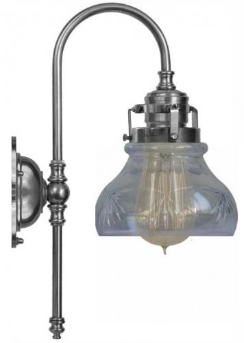 Bathroom Lamp - Blomberg 60 nickel-plated & matted glass