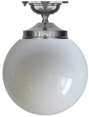 Bathroom Lamp - Ekelund 100 ceiling lamp nickel - old fashioned style - classic interior - retro