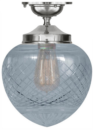 Bathroom Lamp - Ekelund 100 ceiling lamp nickel clear glass - old fashioned style - classic interior - old style