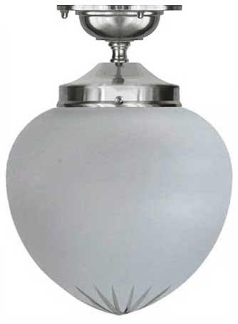Bathroom Lamp - Ekelund 100 ceiling lamp nickel cut matte glass