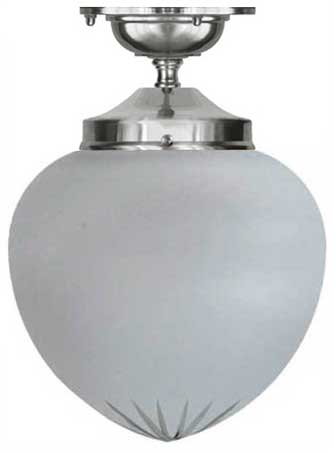 Bathroom Lamp - Ekelund 100 ceiling lamp nickel cut matte glass