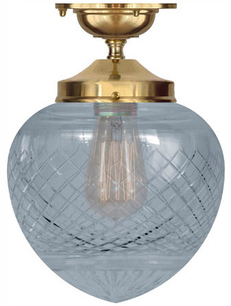 Bathroom Lamp - Ekelund 100 ceiling lamp brass clear glass