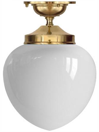 Bathroom Lamp - Ekelund 100 ceiling lamp brass white glass