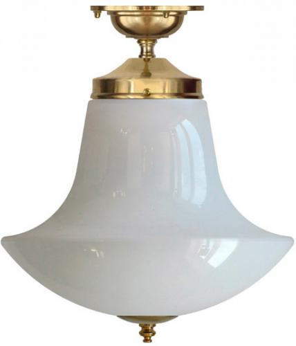 Bathroom Lamp - Ekelund 100 Anchor brass - old style - vintage interiror - old style
