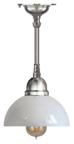 Bathroom Lamp - Byström pendant 60 nickel, rounded glass