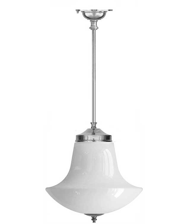 Baderomslampe - Ekelundspendel 100 forniklet med klokkeformet skjerm