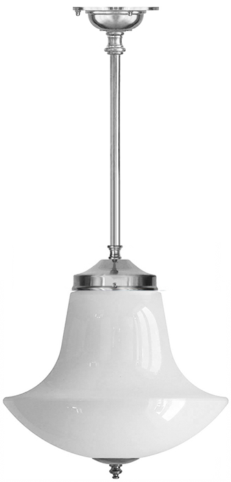 Bathroom Lamp - Ekelund pendant 100 nickel anchor shade - classic interior - oldschool style