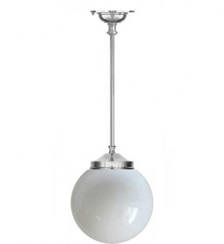 Bathroom Lamp - Ekelund pendant 100 nickel, ball shade