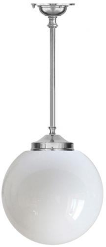 Bathroom Lamp - Ekelund pendant 100 nickel-plated brass, large globe shade