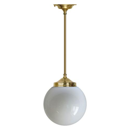 Badrumslampa - Taklampa Ekelundspendel 100 stor klotskärm - gammal stil - sekelskifte
