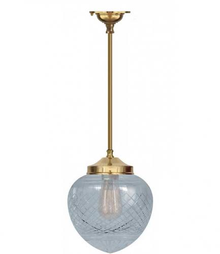 Bathroom Lamp - Ekelund pendant 100 brass, drop shade