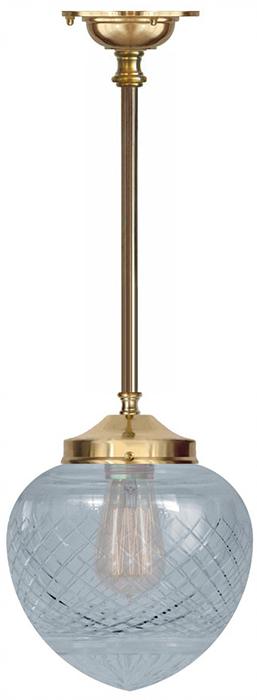 Bathroom Lamp - Ekelund pendant 100 brass, drop shade