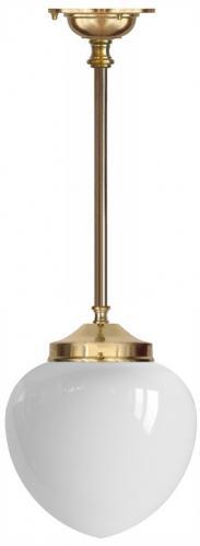 Badrumslampa - Ekelundspendel 100 vit droppe - klassisk inredning - gammal stil
