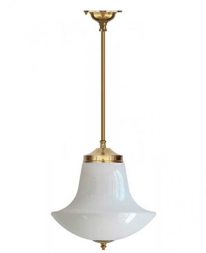 Bathroom Lamp - Ekelund pendant 100 brass, anchor shade