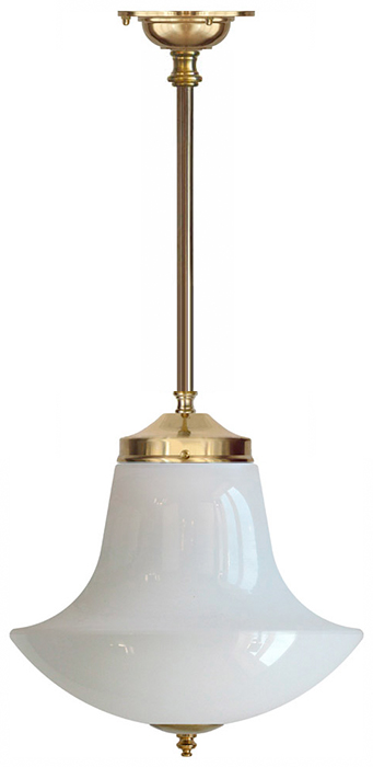 Bathroom Lamp - Ekelund pendant 100 brass, anchor shade