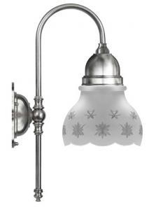 Badrumslampa - Ahlström 60 förnicklad slipat mattglas