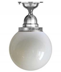 Bathroom Ceiling Lamp - Byström 100 nickel, globe shade