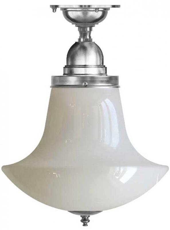 Bathroom Ceiling Lamp - Byström 100 nickel, anchor shade
