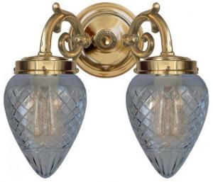 Baderomslampe - Tegengren klar dråpe - arvestykke - gammeldags dekor - klassisk stil - retro - sekelskifte
