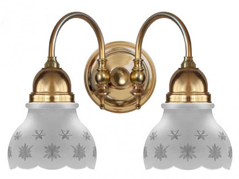 Bathroom Wall Lamp - Stackelberg brass, matte glass