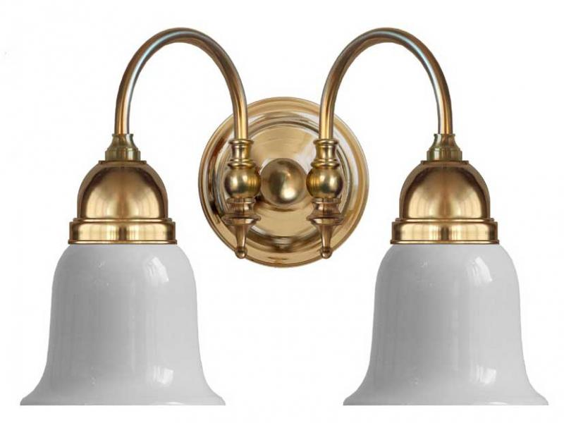 Baderomslampe - Stackelberg, hvit klokke